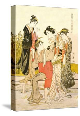 Four Women-Kitagawa Utamaro-Stretched Canvas Print