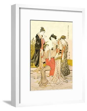 Four Women-Kitagawa Utamaro-Framed Art Print