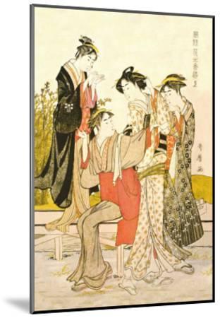 Four Women-Kitagawa Utamaro-Mounted Art Print