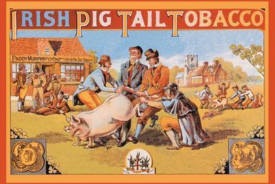 Irish Pig Tail Tobacco--Stretched Canvas Print