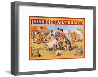 Irish Pig Tail Tobacco--Framed Art Print