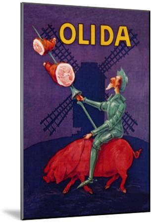Don Quixote Riding a Pig--Mounted Art Print