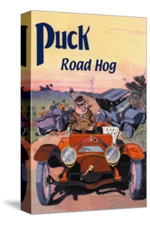 Puck, Road Hog-E. Baker-Stretched Canvas Print