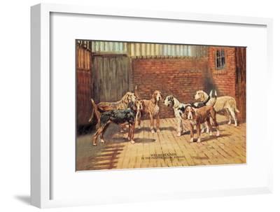 Welsh Hounds-Thomas Ivester Llyod-Framed Art Print
