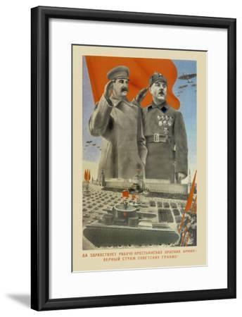 Hail Moscow--Framed Art Print