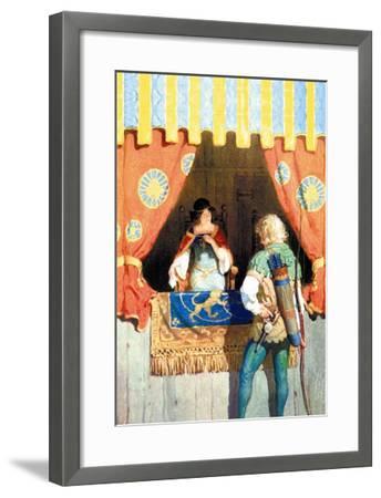 Robin Hood and Maid Marian-Newell Convers Wyeth-Framed Art Print