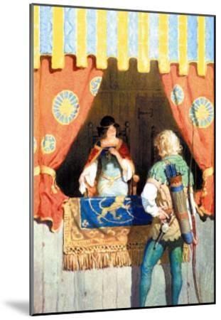 Robin Hood and Maid Marian-Newell Convers Wyeth-Mounted Art Print