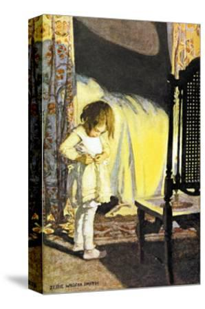 Bed in Summer-Jessie Willcox-Smith-Stretched Canvas Print