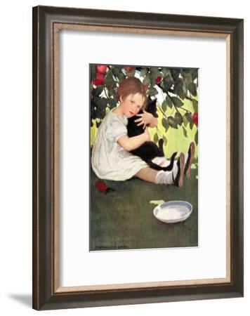 I Love Little Pussy-Jessie Willcox-Smith-Framed Art Print
