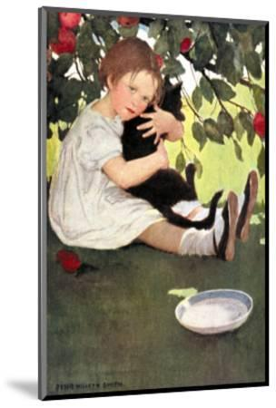 I Love Little Pussy-Jessie Willcox-Smith-Mounted Art Print