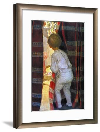 Peeping Into the Parlor-Jessie Willcox-Smith-Framed Art Print