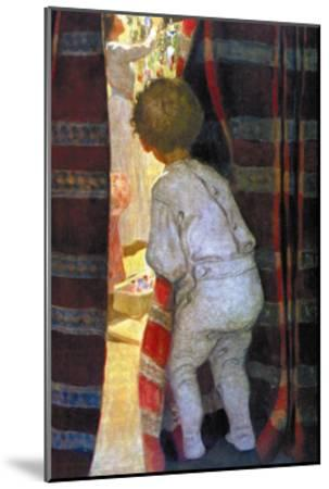 Peeping Into the Parlor-Jessie Willcox-Smith-Mounted Art Print