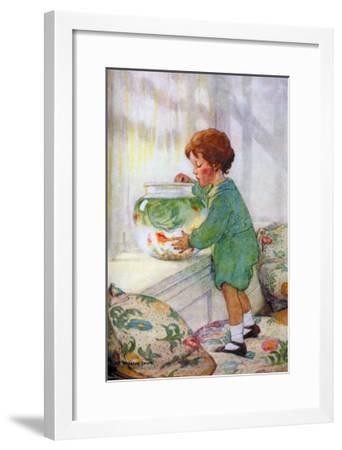 The Goldfish-Jessie Willcox-Smith-Framed Art Print