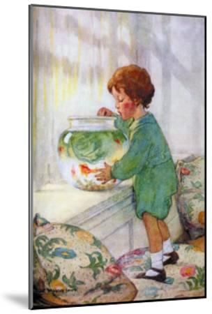 The Goldfish-Jessie Willcox-Smith-Mounted Art Print