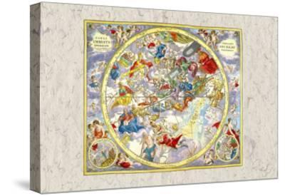 Celestial Sky Chart-Andreas Cellarius-Stretched Canvas Print