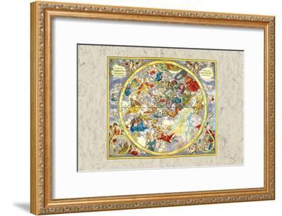 Celestial Sky Chart-Andreas Cellarius-Framed Art Print