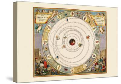 Planispherium Arateum-Andreas Cellarius-Stretched Canvas Print
