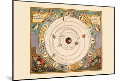 Planispherium Arateum-Andreas Cellarius-Mounted Art Print