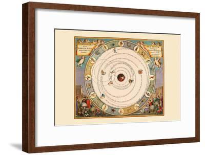 Planispherium Arateum-Andreas Cellarius-Framed Art Print