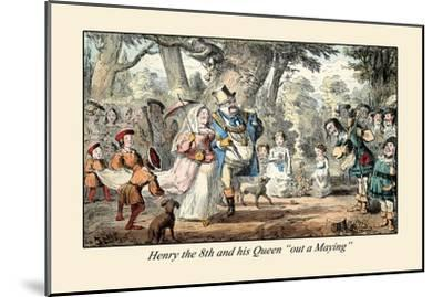 Henry VIII and His Queen Out A'maying-John Leech-Mounted Art Print