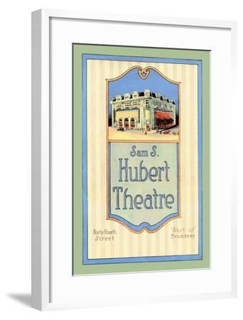 Sam S. Hubert Theatre--Framed Art Print