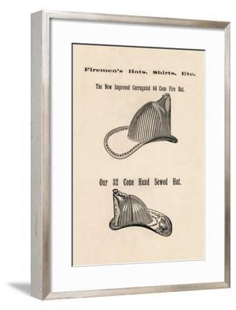 Firemen's Hats--Framed Art Print