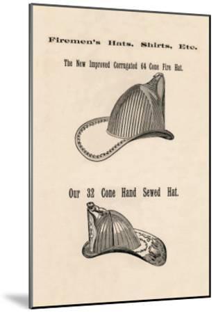 Firemen's Hats--Mounted Art Print