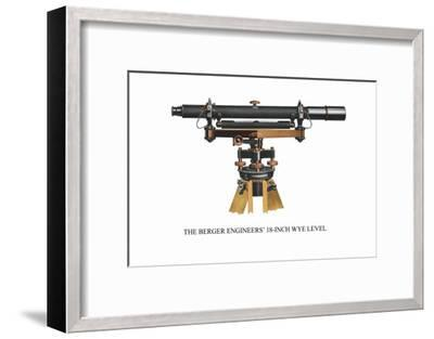 The Berger Engineers' 18 Inch Wye Level--Framed Art Print