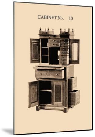 Dentist's Cabinet--Mounted Art Print