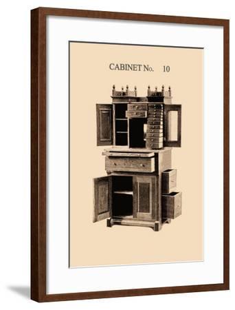 Dentist's Cabinet--Framed Art Print