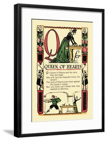 Q for Queen of Hearts-Tony Sarge-Framed Art Print