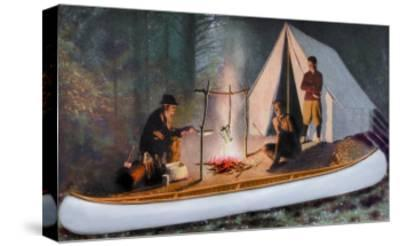Guide's Special Model' Canoe--Stretched Canvas Print