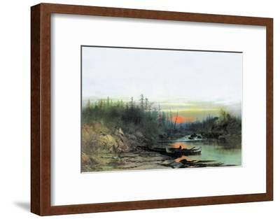 Indian Camp-Albert Bierstadt-Framed Art Print