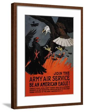 Join the Army Air Service: Be an American Eagle!-Charles Livingston Bull-Framed Art Print