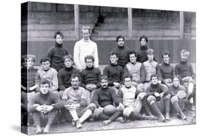 University of Pennsylvania Football Team, Philadelphia, Pennsylvania--Stretched Canvas Print