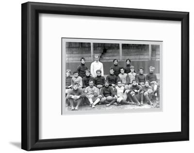 University of Pennsylvania Football Team, Philadelphia, Pennsylvania--Framed Photo
