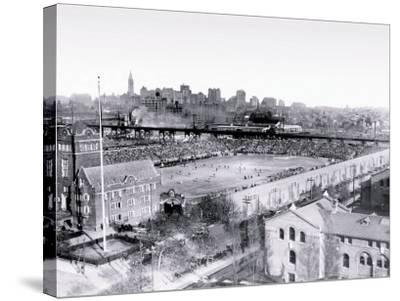 Football Game at Franklin Field, Philadelphia, Pennsylvania--Stretched Canvas Print