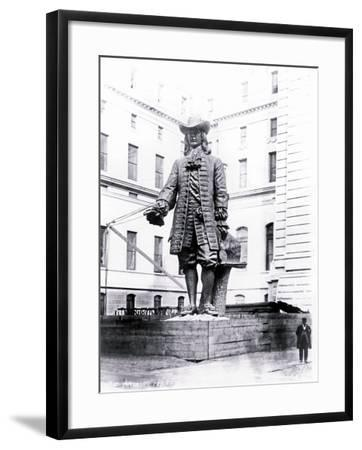 Statue of William Penn in Courtyard of City Hall, Philadelphia, Pennsylvania--Framed Photo