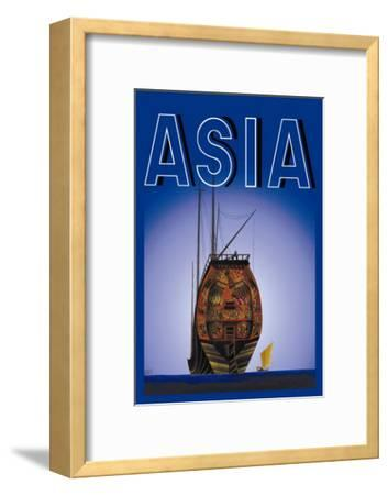 Chinese Junks-Frank Mcintosh-Framed Art Print