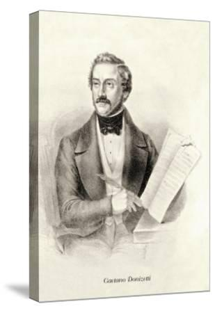 Gaetano Donizetti--Stretched Canvas Print