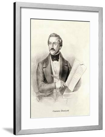 Gaetano Donizetti--Framed Art Print