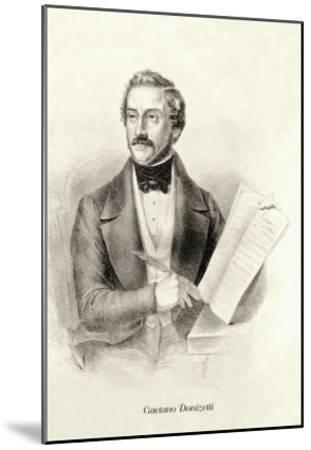 Gaetano Donizetti--Mounted Art Print