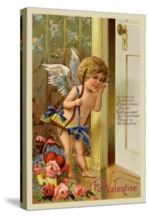Cupid, To My Valentine--Stretched Canvas Print