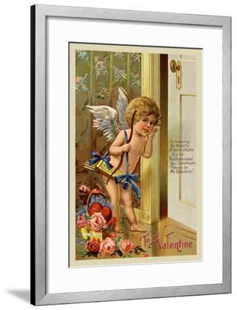 Cupid, To My Valentine--Framed Art Print