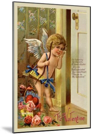 Cupid, To My Valentine--Mounted Art Print