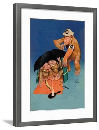 Whistle Blower-Lawson Wood-Framed Art Print