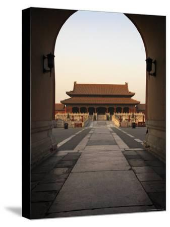 A Doorway to the Hall of Supreme Harmony in the Forbidden City-xPacifica-Stretched Canvas Print