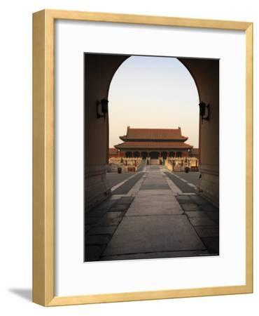A Doorway to the Hall of Supreme Harmony in the Forbidden City-xPacifica-Framed Photographic Print
