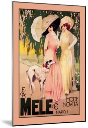 E. and A. Mele and Ci Mode Novita Napoli--Mounted Art Print