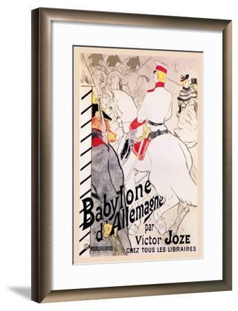 Babylone d'Allemagne-Henri de Toulouse-Lautrec-Framed Art Print